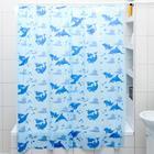 Штора для ванной комнаты «Дельфины», 180×180 см, полиэтилен, цвет голубой