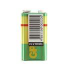 Батарейка солевая GP Greencell Extra Heavy Duty, 6F22-1S, 9В, крона, спайка, 1 шт.