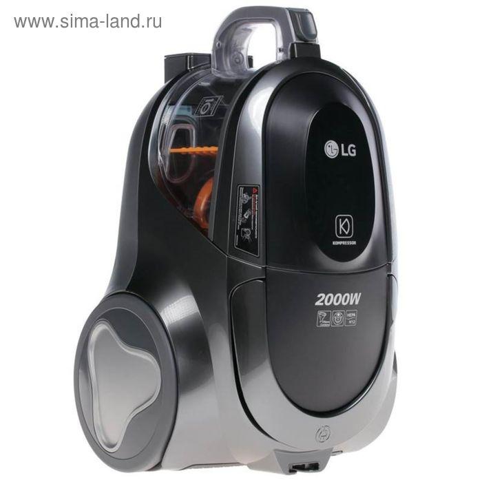 Пылесос LG VK76W02HY, 2000 Вт, мощность всасывания 380 Вт, 1.5 л, серебристый