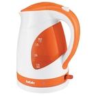 Чайник электрический BBK EK1700P, 2200 Вт, 1.7 л, бело-оранжевый