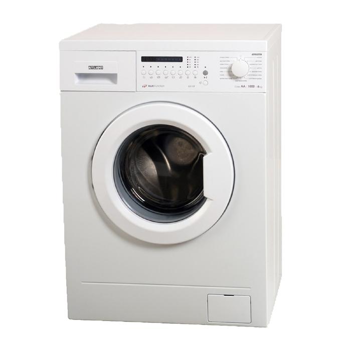 """Стиральная машина """"Атлант"""" 60С107-000, класс А, 1000 об/мин, 6 кг, белая"""