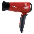 Фен BBK BHD1605i, 1600 Вт, ионизация, 2 режима, 2 скорости, вишня/черный