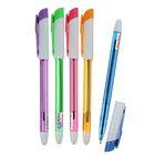 Ручка шариковая 1.0 мм, стержень синий, корпус тонированный с цветным колпачком, МИКС