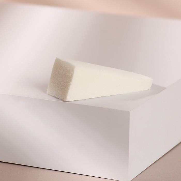 Спонж для нанесения косметики, 5,2 2 см, цвет белый