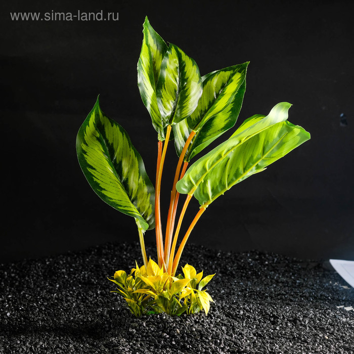 Растение искусственное аквариумное аквариумное большое, 26 х 10 х 31 см