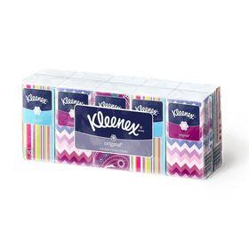 Платочки бумажные Kleenex Original, 10 упаковок по 10 шт. Ош