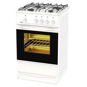 Плита Лада PR 14.120-03 W, газовая, 4 конфорки, 55 л, газовая духовка, белая