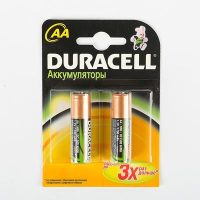 Аккумулятор Duracell, Ni-Mh, AA, HR6-2BL, 1.2В, 1700 мАч, блистер, 2 шт.