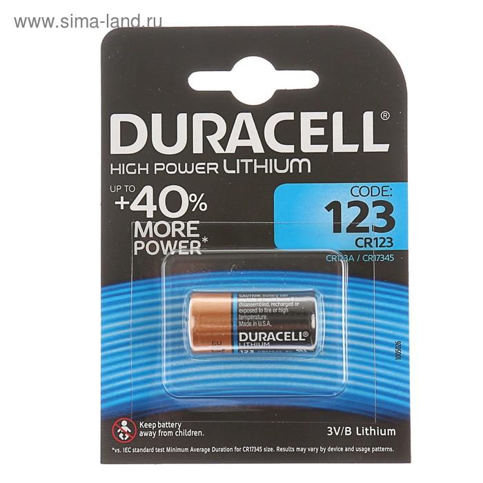 Литиевая батарейка Ultra для фотоаппаратов 3V 123, 1 шт