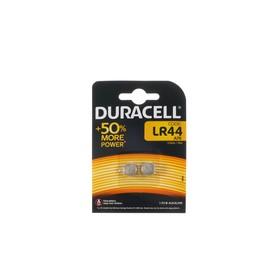 Батарейка алкалиновая Duracell, LR44 (А76, KA76, V13GA)-2BL, 1.5В, блистер, 2 шт.