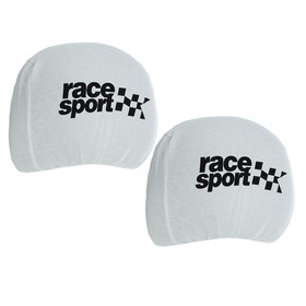 Чехлы на подголовник Race Sport, белые, набор 2 шт