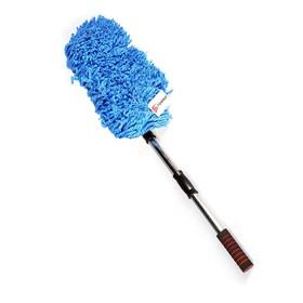 Щётка TORSO для удаления пыли, 72 см, микрофибра, телескопическая ручка, синяя Ош