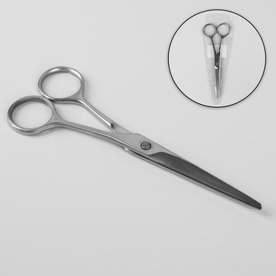 Ножницы парикмахерские, лезвие — 6,7 см, цвет серебряный - Фото 1