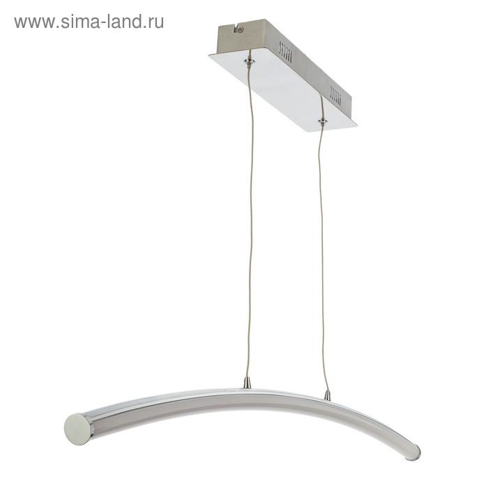 """Люстра светодиодная """"Агнис"""" 1 лампа 22W основание хром 90х8х120 см"""