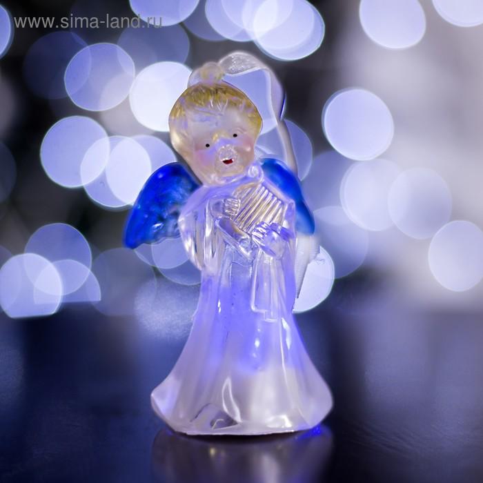 """Игрушка световая """"Ангел с арфой"""" (батарейки в комплекте) 1 LED, RGB, цветной"""