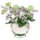 Хрустальные цветы в вазочке №53 CR ros
