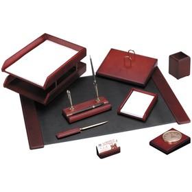 Набор настольный 9 предметов, цвет красное дерево