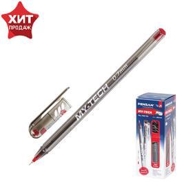 Ручка шариковая Pensan My-Tech 2240, узел-игла 0.7 мм, красные чернила