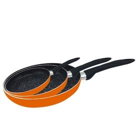 Набор сковородок CALVE с антипригарным покрытием, 3 пр.: 16 см, 20 см, 24 см, цвет МИКС