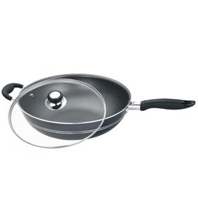 Сковорода-ВОК d=32 см, с крышкой, с решеткой, с антипригарным покрытием