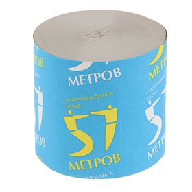 """Туалетная бумага """"Снежок"""" """"57 метров"""", без втулки, 1 слой"""