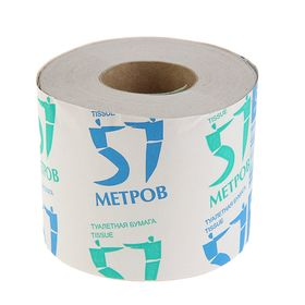 """Туалетная бумага """"Снежок"""" """"57 метров"""", со втулкой, 1 слой"""
