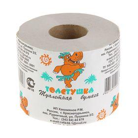 Туалетная бумага 'Толстушка', со втулкой, 1 слой Ош