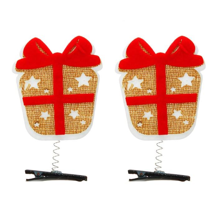 Карнавальный зажим «Подарок», набор 2 шт.