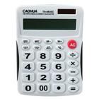 Калькулятор настольный, 12-разрядный, TS-8835C Caohua, двойное питание, большие кнопки
