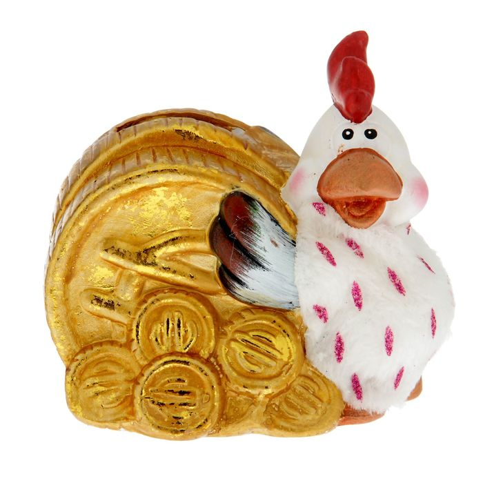 Копилка Петушок с монетой