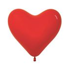 """""""Шар латексный 12"""" """"Сердце"""", набор 12 шт., цвет красный"""