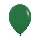 """Шар латексный 12"""", пастель, набор 12 шт., цвет тёмно-зелёный 032"""