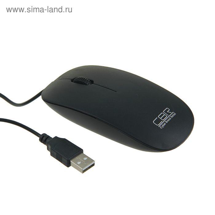 Мышь CBR CM-104, проводная, оптическая, 1200 dpi, USB, чёрная