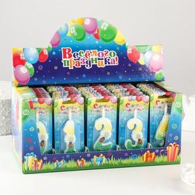 Шоу-бокс со свечами для торта цифры 'Ромашки' 50 штук Ош