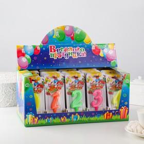 Шоу-бокс со свечами для торта цифры 'Мармеладки' 50 штук Ош