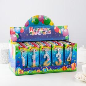 Шоу-бокс со свечами для торта цифры 'Сердечки' 50 штук Ош