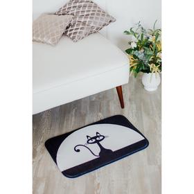 Коврик Доляна «Чёрная кошка», 40×60 см Ош