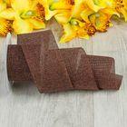 Лента из джута «Классика», 60 мм, 4,5±1м, цвет коричневый
