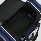 Сумка спортивная, отдел на молнии, 2 наружных кармана, цвет чёрный/синий - Фото 5