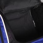 Сумка спортивная, отдел на молнии, 2 наружных кармана, цвет чёрный/синий - Фото 8
