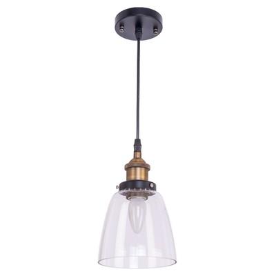 """Светильник потолочный лофт """"Ламия"""" 1 лампа 40W E27 основание черный 15х15х90 см"""