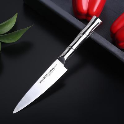 Нож кухонный универсальный Samura Bamboo, лезвие 12,5 см, сталь AUS-8 - Фото 1
