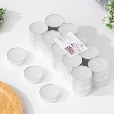 Набор чайных свечей, белый, 12 г, 30 штук