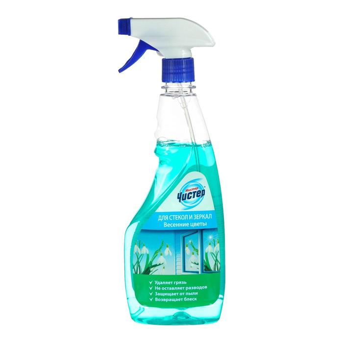 Средство для мытья стекол и зеркал Мистер Чистер «Весенние цветы», 500 мл