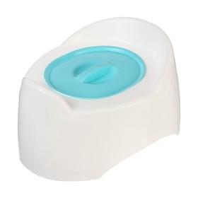 Горшок детский с крышкой «Малышок», цвет голубой Ош