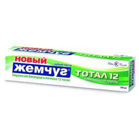 Зубная паста «Новый жемчуг. Тотал 12», отбеливание от природы, 100 мл