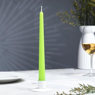 Свеча  античная, 2,3х 24,5 см, зелёная - Фото 1