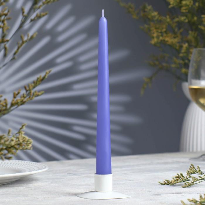 Свеча античная, 2,3х 24,5 см, голубая
