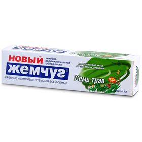 Зубная паста Новый Жемчуг «Семь трав», 100 мл