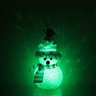 "Игрушка световая ""Снеговик"" (батарейки в комплекте) 6х13 см, 1 LED RGB, СИНИЙ"